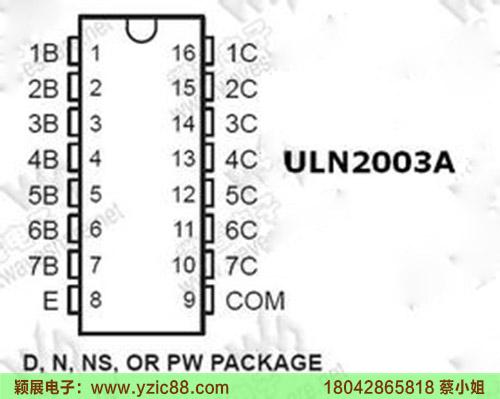 进口原装现货uln2003an集成电路ic批发